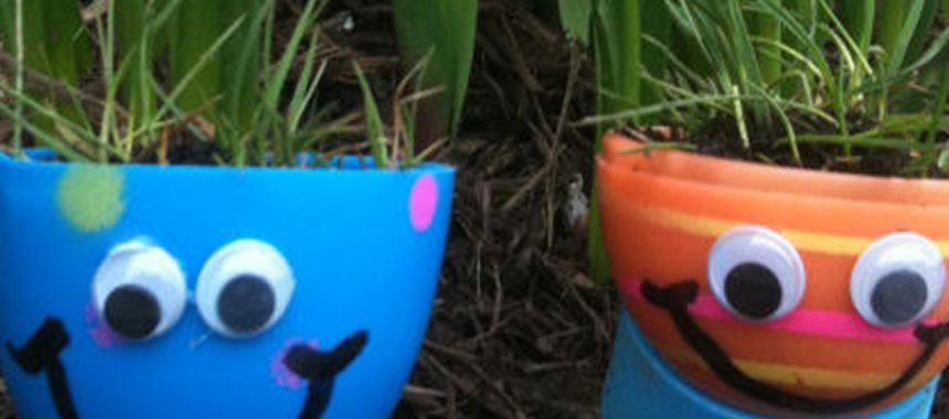 Grow Eggshell Grass Heads