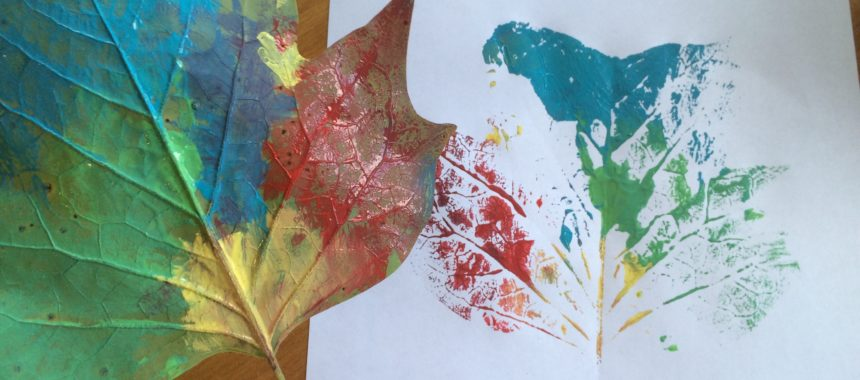 Explore Leaves and Make Rainbow Leaf Prints