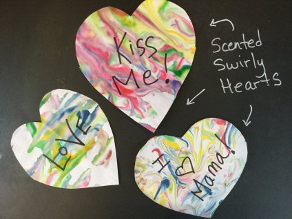 Make Scented, Swirly Valentines